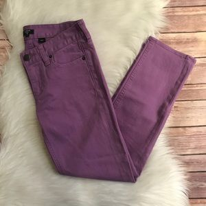 5 FOR $15 J CREW FACTORY MATCHSTICK JEANS PURPLE